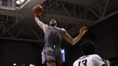 Austin Peay Men's Basketball senior Steve Harris had 26 points Saturday night against Murray State. (APSU Sports Information)