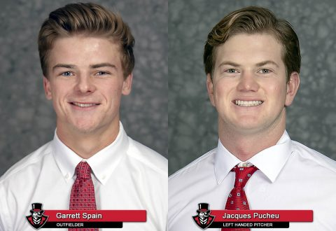 2018-19 APSU Baseball - Garrett Spain and Jacques Pucheu