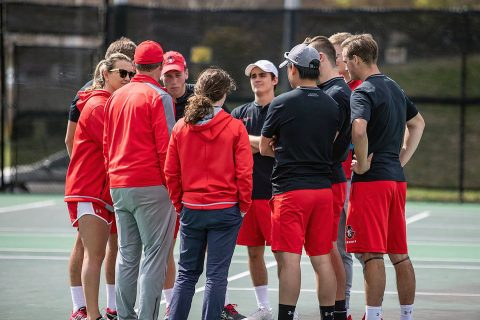 Austin Peay Men's Tennis look to rise to third seed at OVC Tournament with win over Belmont, Saturday. (APSU Sports Information)