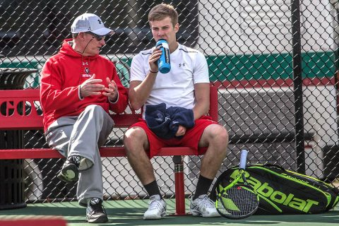Austin Peay Men's Tennis falls 4-2 to Eastern Illinois at the OVC Tournament, Friday. (APSU Sports Information)