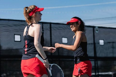 Austin Peay Women's Tennis gets 5-2 win at Murray State Wednesday. (APSU Sports Information)