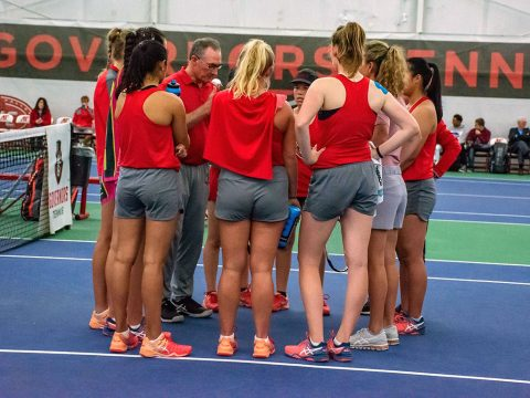 Austin Peay Women's Tennis plays Belmont at home Saturday to try and complete regular season perfect. (APSU Sports Information)