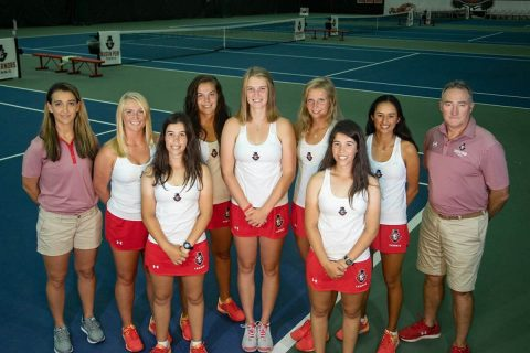 Austin Peay Women's Tennis gets 6-1 victory over Belmont to complete the regular season unbeaten and wins the Govs first OVC Regular Season title since 1989. (APSU Sports Information)