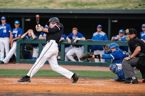 Austin Peay Baseball was down 9-8 in the bottom of the ninth when Matthew Joslin sweeps the bases clean with a homer to give the Govs a 12-9 victory Tuesday night over Southern Illinois. (APSU Sports Information)