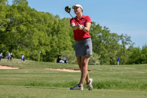 Austin Peay Women's Golf senior Reagan Greene moves up to sixed on second day of the OVC Championships. (APSU Sports Information)