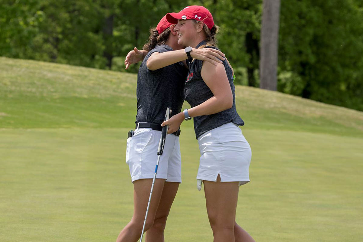 Austin Peay Women's Golf senior Reagan Greene finishes in the OVC Championship top 10 for the second year in a row. (APSU Sports Information)