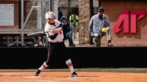 Austin Peay Softball junior Danielle Liermann had three hits and three RBIs Tuesday in doubleheader against Murray State. (APSU Sports Information)