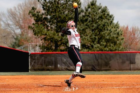 Austin Peay Softball pitcher Morgan Rackel closed down Southeast Missouri to power Govs to 5-2 victory over Southeast Missouri. It was her 10th straight win. (APSU Sports Information)