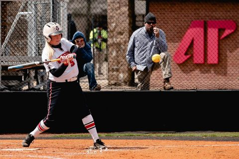 Lipscomb Bisons score in the bottom of the seventh to beat Austin Peay Softball, 1-0. (APSU Sports Information)