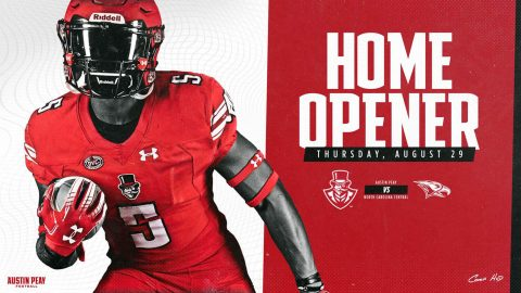 Austin Peay Football 2019 Season home opener against North Carolina Central rescheduled for August 29th. (APSU Sports Information)