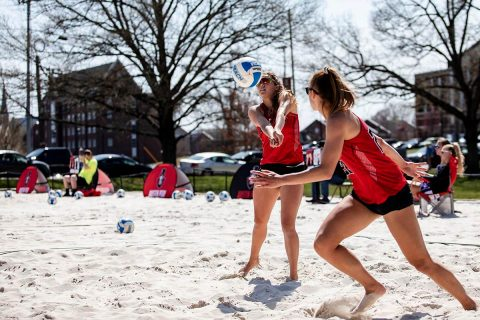 Austin Peay Beach Volleyball plays doubleheader against UT Martin at home Wednesday afternoon. (APSU Sports Information)