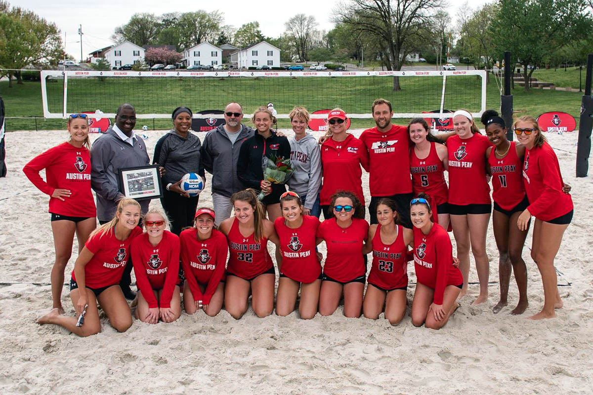 The Austin Peay Beach Volleyball team ready for ASUN Tournament. (APSU Sports Information)