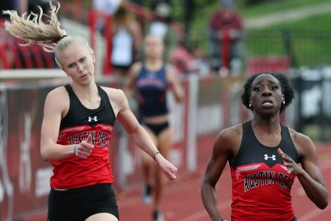 Austin Peay Track and Field sophomore Sabrina Richman had a pair of top five finishes at Georgia Tech Invitational. (Robert Smith, APSU Sports Information)
