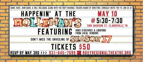 "Roxy Regional Theatre's ""Happenin' at the Hollemans"" set for Friday, May 10th."