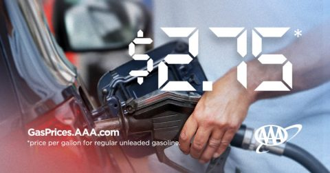 AAA Forecasts Spring National Gas Price Average to Reach $2.75. (AAA)