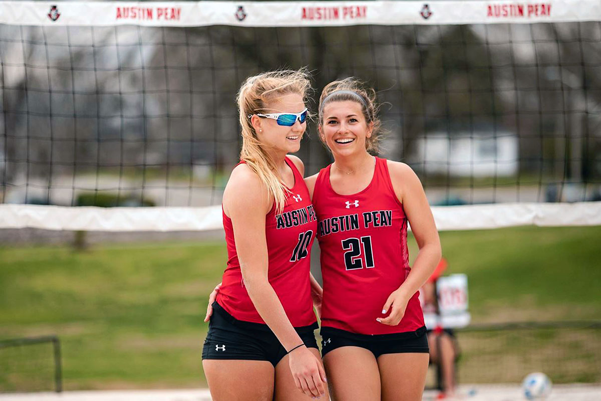 Austin Peay Beach Volleyball's (L to R) Jenna Panning and Haley Turner named to ASUN Conference's All-Academic Team. (APSU Sports Information)