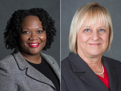Austin Peay State University administrators (L to R) Dannelle Whiteside and Carol Clark.
