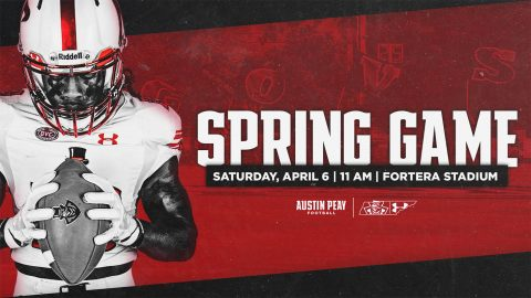 Austin Peay Football's Red and White Spring Game set for Saturday, April 6th, 2019. (APSU Sports Information)
