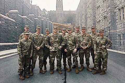 The Austin Peay State University Ranger Challenge team poses for a group photo at West Point, New York. (Brian Dunn, APSU)