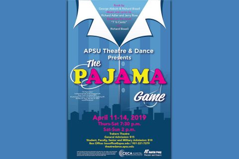 "Austin Peay Department of Theatre and Dance will present ""The Pajama Game,"" April 11th-14th"