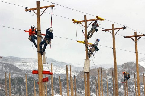CDE Lightband Lineworkers competing at American Public Power Association (APPA) Lineworkers Rodeo.