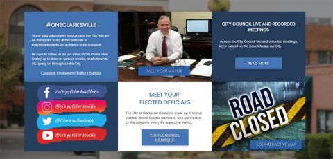 City of Clarksville new website will enable a more interactive experience.