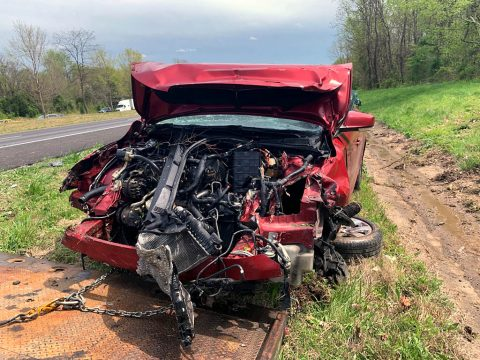 Clarksville Police and local law enforcement pursed a robbery suspect on Interstate 24. The suspect then crashed  into the rear of a truck.
