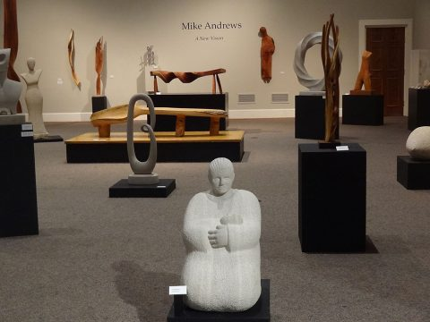 Mike Andrews Sculptures on display at the Customs House Museum and Cultural Center.