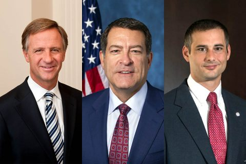 (L to R) Former Governor Bill Haslam, U.S. Representative Mark Green and State Representative Jason Hodges to speak at APSU Commencement Ceremonies.