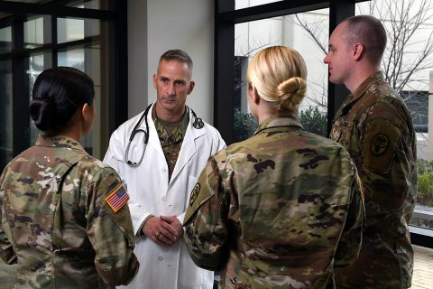 More than 2,000 health care professionals, both active-duty Soldiers and federal service civilians, work at Blanchfield Army Community Hospital on Fort Campbell supporting medical readiness for Soldiers and caring for Soldiers, retirees and family members. (U.S. Army photo by Greg Calidonna)
