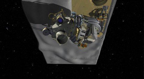 Illustration of NASA's OCO-3 mounted on the underside of the International Space Station. (NASA/JPL-Caltech)