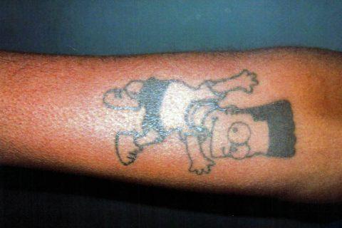 Tai Tyrone Harrell - Tattoo - Right Forearm (Bart Simpson)