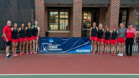 Austin Peay Women's Tennis has undefeated season come to an end at the 2019 NCAA Tournament with loss to #22 Wake Forest. (APSU Sports Information)