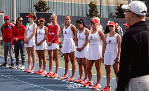 Austin Peay Women's Tennis received the Intercollegiate Tennis Association's Ohio Valley Region Community Service Award, Saturday. (APSU Sports Information)