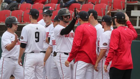 Austin Peay Baseball first baseball Parker Phillips' 20th home run of the season puts him just outside OVC Top 10 list for single season home runs. (APSU Sports Information)