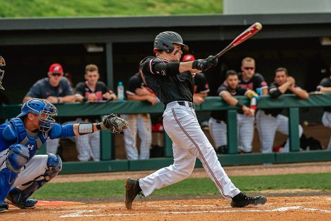 Austin Peay Baseball freshman Garrett Spain had 2 hits on 4 at bats against Eastern Illinois including a solo home run. (APSU Sports Information)