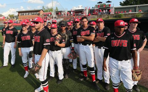 Austin Peay Baseball loses 4-3 to Jacksonville State at Raymond C. Hand Park, Thursday night. (APSU Sports Information)