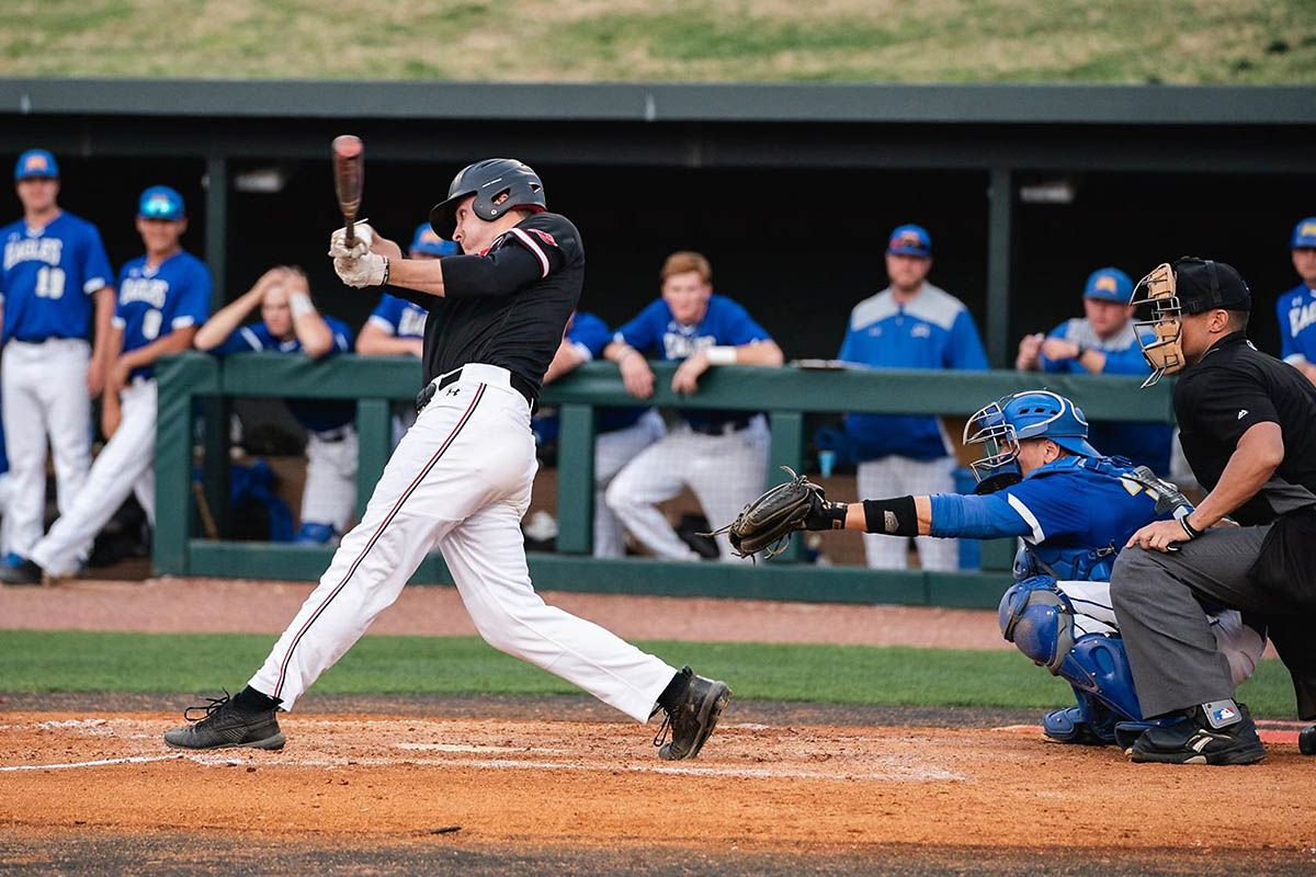 Austin Peay Baseball unable to stop Jacksonville State late in 8-4 loss Friday in OVC Tournament play. (APSU Sports Information)