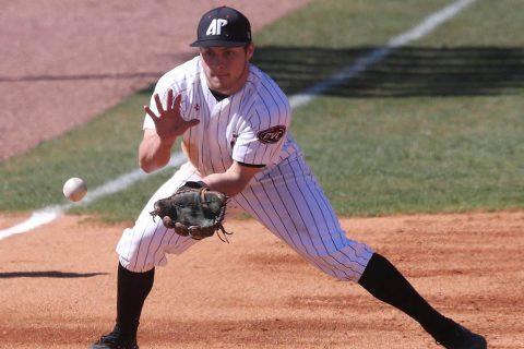 Austin Peay Baseball loses to Morehead State 8-4 Saturday at the OVC Tournament. (Robert Smith, APSU Sports Information)