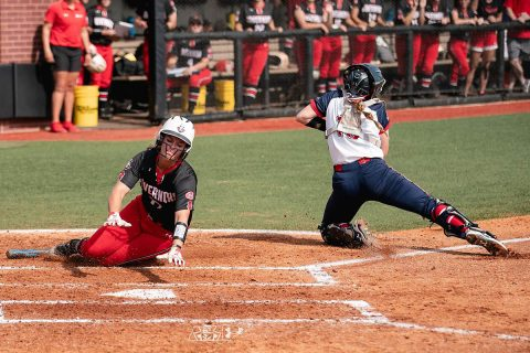 Austin Peay Women's Softball advance on at the OVC Tournament with 4-2 win over Belmont, Wednesday. (APSU Sports Information)