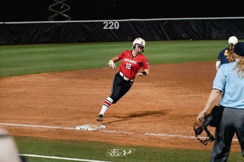Austin Peay Softball outfielder Kacy Acree went 2 for 3 against Murray State Thursday night. (APSU Sports Information)