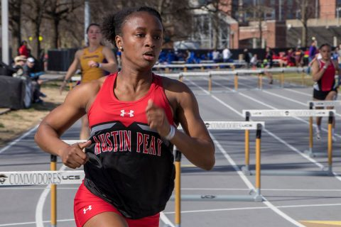 Three APSU Track and Field athletes got in one extra meet before OVC Championships. (APSU Sports Information)