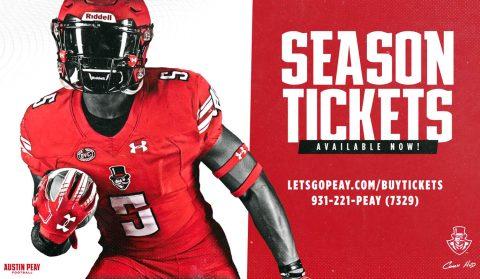 Austin Peay Football season tickets available now. (APSU)