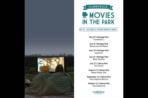 Heritage Park will host Movies in the Park free movie screening, vendors and fun.