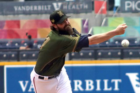 Round Rock Express outlasts Nashville Sounds in Game Two Extra Innings, Monday. (Nashville Sounds)