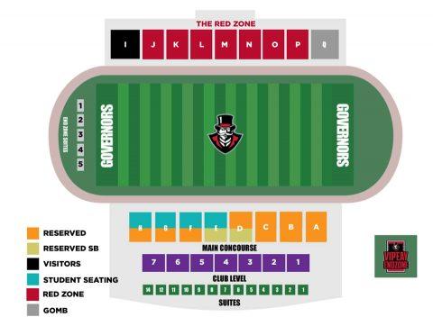 APSU Fortera Stadium seating chart