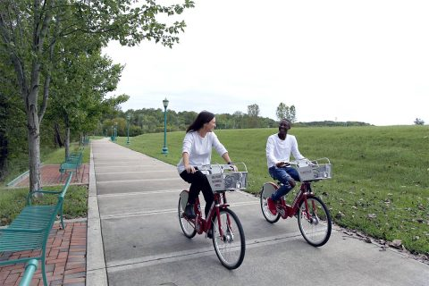 Free Friday Clarksville BCycle access encourages citizens to ride a bike.
