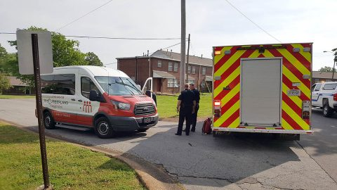 Clarksville Police are investigating an accident where a four year old boy's ball rolled under a van and then the child was stuck by the van. (Jim Knoll, CPD)