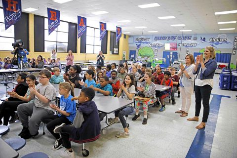 Hailie Latham's classmates at Moore Magnet Elementary School.