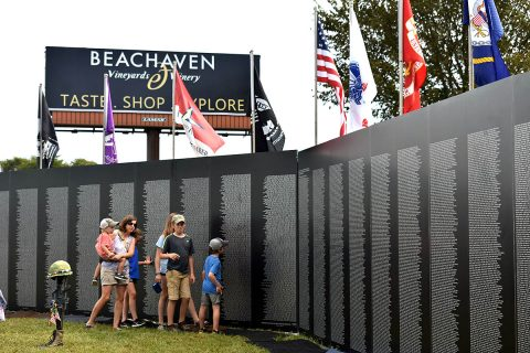 The Vietnam Memorial Traveling Wall at Clarksville's Welcome Home Celebration.